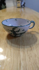 EARLY ITALIAN  Pottery Antique Glazed Ceramic Demitasse Cup Hand painted Italy