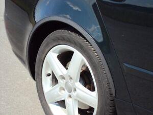 AUDI A6 C5 Hinten Radlauf Zierleisten 2 Stk Schwarz Matt kit für Avant Limousine