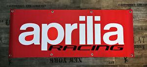 FAHNE Werbe Banner für Aprilia Fans / Racing RSV 4 Tuono Mille 1000