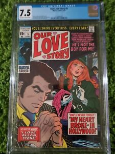 Our Love Story #5 -CGC Steranko Marvel 1970 NICE