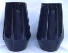 Domenico Vacca Rogaska Crystal Signature Black Julie Highball Glasses Boxed