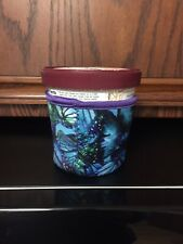 Blue Green Tropical Flowers Print  Neoprene Pint Ice Cream Holder Koozie New