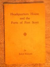 CIVIL WAR HISTORY BOOK FORT SCOTT KS KANSAS FORTS SOLDIERS HEADQUARTERS HOUSE