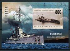 Hungary 2018 MNH Battleship Saint Stephen 1v M/S Ships Boat Nautical Stamps