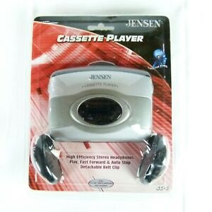 Jenson Cassette Player with High Efficiency Stereo Headphones (Brand New)