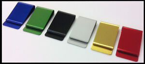 10 Money Clip Anodized Aluminum U can select colors #1USA credit card holder