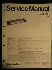 Technics Electronic Keyboard SX-K300 Service Repair Shop Manual Wiring SX K 300
