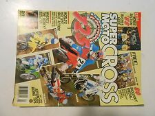 APRIL 1988 SUPER MOTOCROSS MAGAZINE,80 SHOOTOUT HONDA,YAMAHA,KAWASAKI,SUZUKI