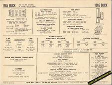 1965 BUICK LE SABRE SERIES 4500 300 ci Engine Car SUN ELECTRONIC SPEC SHEET