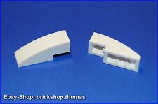 Lego 2 x Dachstein arco blanco (3 x 1) - 50950-slope curved White-nuevo/new