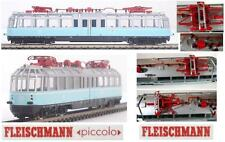 FLEISCHMANN 7410 and-Look PANORAMIC LOCOMOTIVE THE TRAIN BLUE ET491 OVP LADDER-N