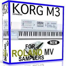 KORG M3 SAMPLES SOUNDS ROLAND MV8800 MV8000 MV 8800 MV 8000 11 DVD'S 38GB