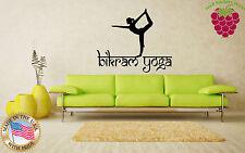 Wall Stickers Vinyl Decal  Yoga Pose Exercise Room Yogini Om EM577