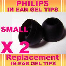 2 Philips En Gel para oreja consejos pequeñas Reemplazo auriculares auriculares auriculares auriculares
