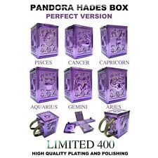 Saint Seiya Hades Pandora Box set of 6 Metal Perfect Version + Wooden Box