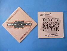 Beer COASTER ~ ROCK BOTTOM Restaurant & Brewery ~ Join a Mug Club ~*~ Since 1991