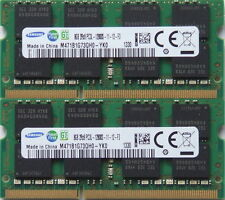 Samsung 16GB Kit (2 x 8GB), 204-pin SODIMM, DDR3 PC3-12800 ram memory (For Mac)