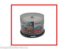 Philips DVD+R DL Double Layer White Inkjet Hub Printable 8.5GB 50 Pk Cake Box
