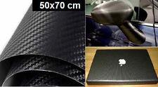 Adesivo carbonio Nero 50x70cm.Carbon look.Cover auto,moto,scooter. Pellicola 3d