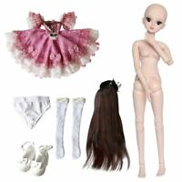 60cm BJD Ball Jointed Doll Girl + Face Makeup + Eyes + Wigs + Clothes BJD Puppen