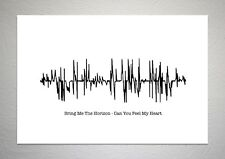 Bring Me The Horizon - Can You Feel My Heart - Sound Wave Print Poster Art