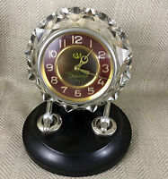 Art Deco Desk Clock Russian Soviet Bakelite Crystal Mechanical Vintage