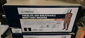 Magellan Men's Tredlite 400 Breathable Boot Foot Wader SZ 8 Realtree MAX-5 NIB