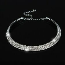 Sparkly Crystal Collar Chain Choker:  Perfect for Party Night or Bridal Wedding!