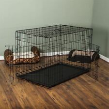 Home Discount Pet Cage With Tray Folding Dog Puppy Animal Crate Vet Car Trainin