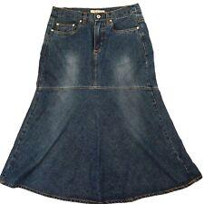 NoFuze Denim Maxi Jean Skirt Women's Size 14 ~ Modest ~ No stretch 100% Cotton