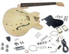 Solo ES Style DIY Guitar Kit, Flamed Maple Top