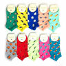 Womens Girls Cotton Ankle Socks Funky Eggplant Tomato Casual Boat Dress Socks