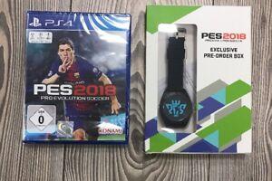 *** PES 2018 Pro Evolution Soccer 2018 *** PS4 *** NEU &OVP *** Mit Preorder Box