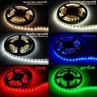 LED SMD Deko Lichtleiste kürzbar Lichtband Strip Streifen 60 LED/m Leuchte Licht