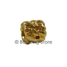 NEW Pandora 14ct Gold Interwoven Rope Cluster Charm Bead 750117 Rare Retired 14k