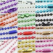 10/50pcs Alloy Ball Metal 2.4mm Beads Chains Diy Necklace 12 color Finding