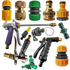 "Garden Lawn Car Water Hose Pipe Fitting Tap Adaptor Connector 1/2"" 3/'4"" LOT"