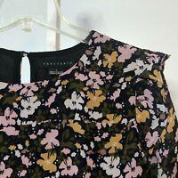 Sanctuary NWOT Small S Floral Long Sleeve Blouse Top Shirt Ruffle New Boho