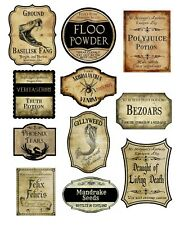 HARRY POTTER /  HALLOWEEN  A4 SHEET POTION LABELS