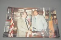 "L.A. MAYOR TOM BRADLEY INSCRIBED 12x8"" PHOTOGRAPH PHOTO SIGNED ""TO TEX MCCRARY"""