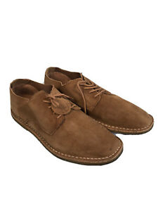 Pretty Green Mens Brown Suede Smart Shoes - Size 8