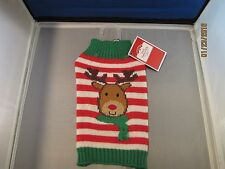 DOG SWEATER BY SIMPLY DOG - XS - REINDEER DESIGN - NEVER USED
