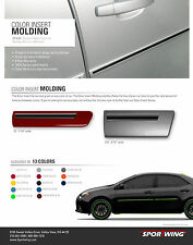 JEEP COMPASS Painted Body Side Mouldings Moldings W/ Color Insert Trim 2007-2014