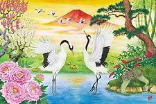 APPLEONE Jigsaw Puzzle 1000-777 Japanese Art Crane Couple (1000 Pieces)