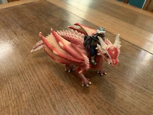 SCHLEICH Mythical Winged DRAGON with Rider Finely Detailed Monster