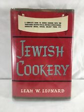 Jewish Cookery Rare Cookbook Complete Cooking Guide Traditional Recipes Leonard