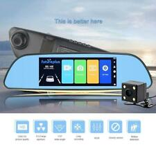 1080P 7.0'' Dual Lens Car DVR Dash Cam + Rear View Mirror Video Cameras Recorder