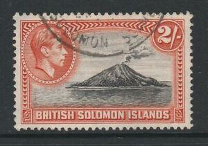 British Solomon Is.1939-51 2/- Black & orange SG 69 Fine used.