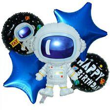 5/pc set Astronaut Happy Birthday Spaceman Balloons