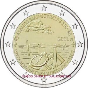 2€ Finlande 2021 UNC100 années d'autonomie gouvernementale Îles ATLAND